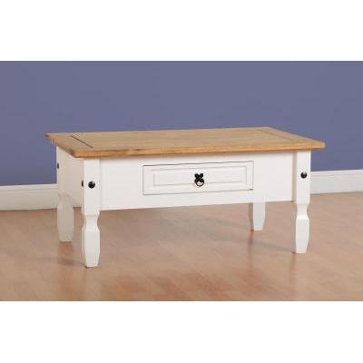 Choice Carpet & Furnishings, CORONA 1DRW COFFEE TABLE WHITE